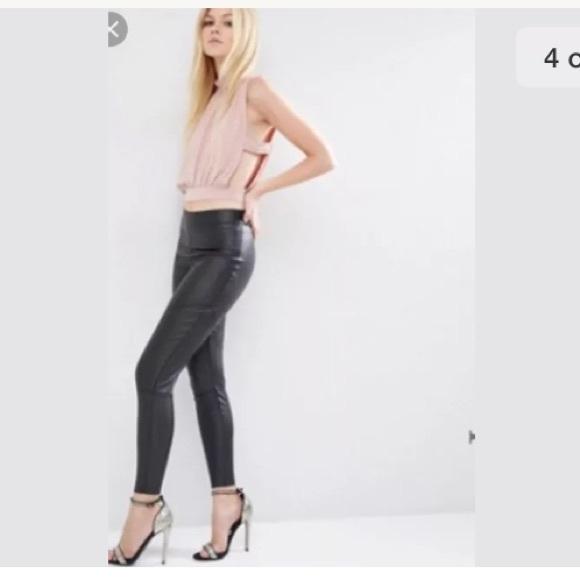 3d1b64cef41581 ASOS Pants | Faux Leather Vegan Leggings Black | Poshmark