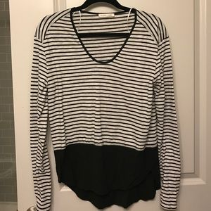 Zara striped long sleeve shirt