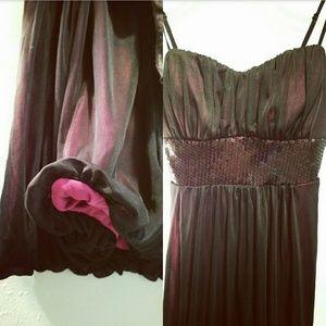 Trixxi Dresses & Skirts - TRIXXI Black & Pink Sequin Cocktail Dress S