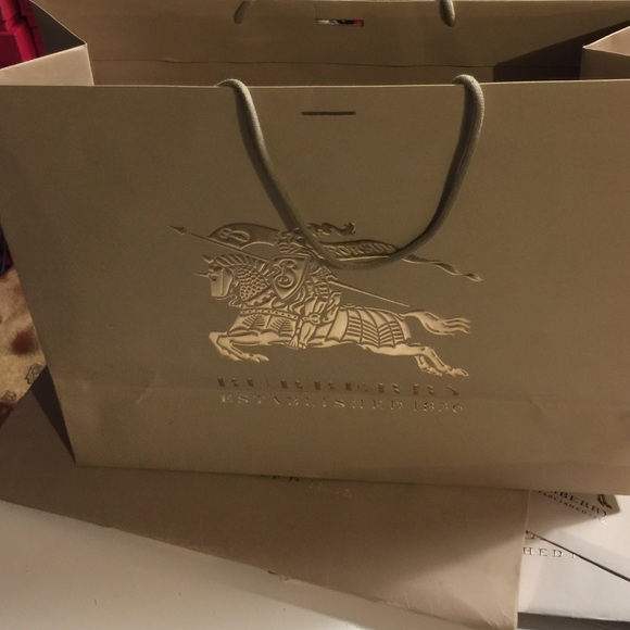 83% off Burberry Accessories - Burberry Shopping Bag - 21.5 x17 ...