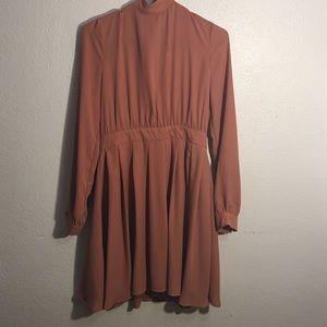 Charlotte Russe long sleeve peachy dress