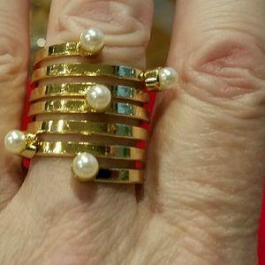 Farah Jewelry Jewelry - Pearl midi ring, adjustable. Farah.