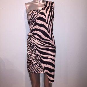 RACHEL Roy Cold shoulder animal print dress
