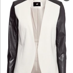 H&M leather sleeve jacket size 2 new with tags