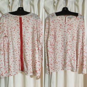White + Warren Sweaters - NEW White + Warren Splatter Print Crewneck! Sz L