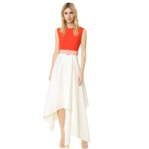 Solace London Harlech Dress in red and cream
