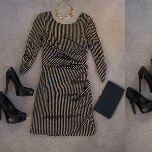 Dresses & Skirts - Holiday Golden Cutout back streak dress