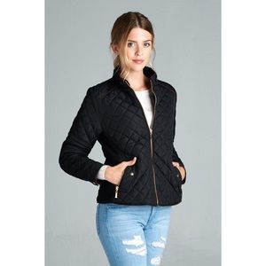 Hannah Beury Jackets & Blazers - Black Quilted Jacket
