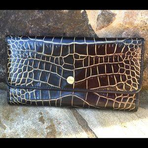 Abas Handbags - Abas black leather crocodile wallet ❤️