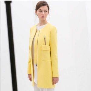Zara [Blogger Fav] Yellow Mid Length Coat