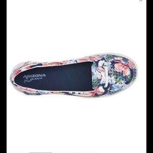 Arizona Jean Company Shoes - AZ Harbor Navy Floral Boat Shoes