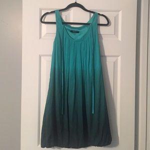 Express Dresses - Express green ombré silk dress