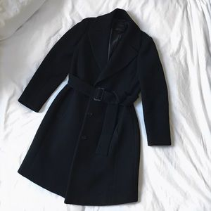 JCrew Double Cloth Belted Trench Coat