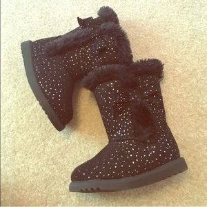 Jumping Jacks Other - Adorable Sparkle Bow Fur Boots