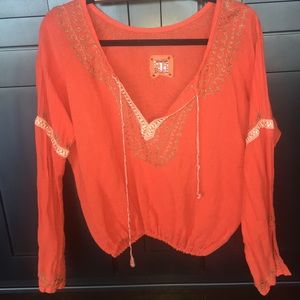 Bohemian free people long sleeve top
