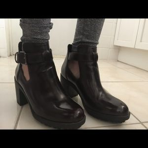 Patent Leather Lumber Bootie