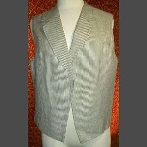 Chico's Jackets & Blazers - Chick's gray striped linen blend vest 2