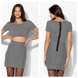 Urban Outfitters Dresses & Skirts - Urban outfitters sparkle +fade stripe cutout dress