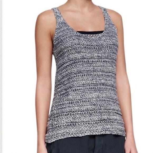 364ec13744de9d Anthropologie Tops - Vince Open Knit Sweater Tank Top silk Linen Small