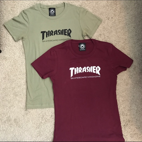 Supreme Tops -  BUNDLE of TWO  Women s Thrasher T-Shirts b7d0ef33a8