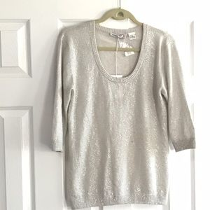 Autumn Cashmere Sweaters - ️Autumn Cashmere Silver Splattered Sweater