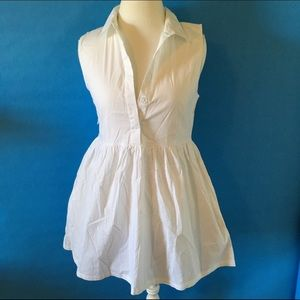 Nasty Gal Dresses & Skirts - White shirt dress w/ pockets! NWT
