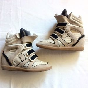 Isabel Marant Shoes - Isabel Marant Beckett wedge sneakers 39