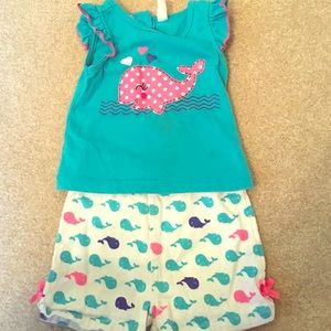 Kids Headquarters Other - Whale Shirt and Print Shorts Set