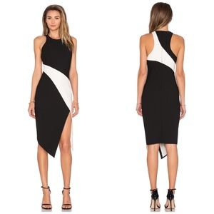 Elizabeth and James Dresses & Skirts - Elizabeth & James Black & White Asymmetrical Dress