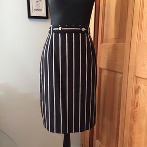 Vintage possibly 80's striped pencil skirt