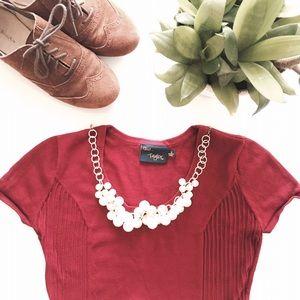 Just Taylor  Dresses & Skirts - Burgundy sweater dress