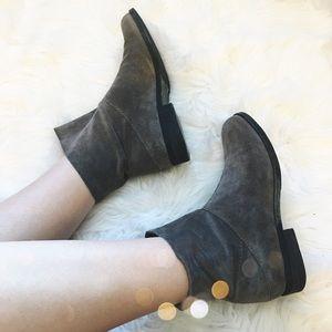 Eileen Fisher Shoes - Eileen Fisher Grey Suede Booties