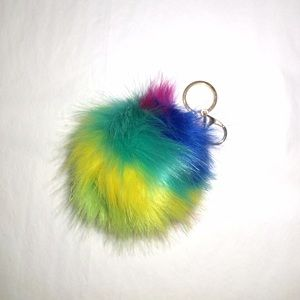 The Honeybee Outlet Accessories - Rainbow Pom Pom KeyChain   Bag Charm 5129d7c60