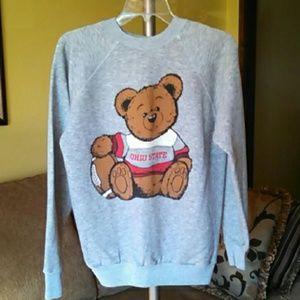 Vintage Ohio State Teddy Bear Football Sweatshirt