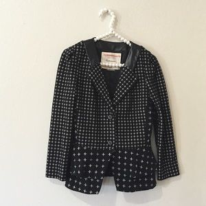 Anthropologie Jackets & Blazers - Anthropologie Cartonnier Peplum & Leather Blazer