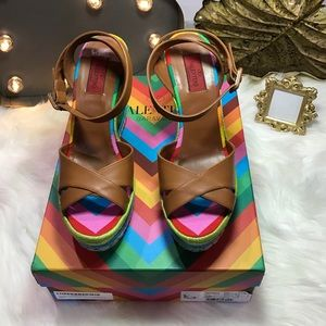 Valentino Shoes - Valentino Multicolor Espadrille Wedge Sandals