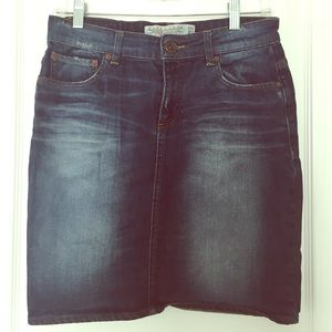 Zara premium collection aged denim skirt size 6