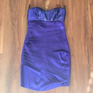 Speechless Dresses & Skirts - Purple sequin cocktail dress