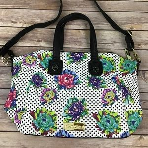 Betsey Johnson Polka Sot Floral Leather Purse