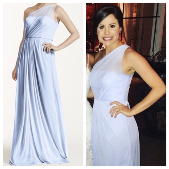 e4ee091a9ad David s Bridal Dresses   Skirts - Ice Blue One Shoulder Bridesmaid Dress