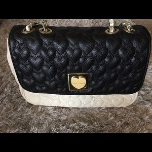 Betsey Johnson Quilted Hearts Handbag