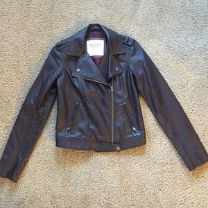 Abercrombie & Fitch faux leather jacket S