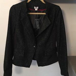 Sparkly tweed blazer