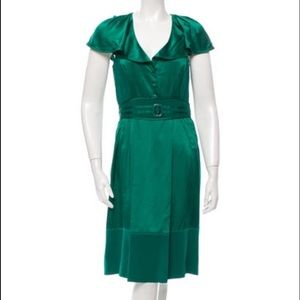 Zac Posen Dresses & Skirts - Zac Posen gorgeous emerald green silk dress