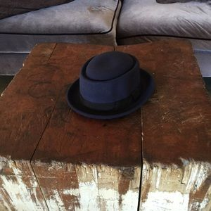 Porkpie Fedora Hat Navy Blue L/XL