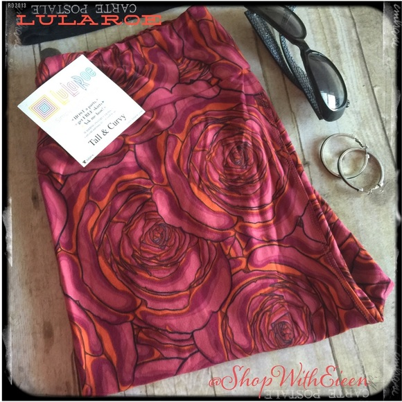 ff19b6ee8f6c3e LuLaRoe Pants | Disney Roses Wine Tc Leggings | Poshmark