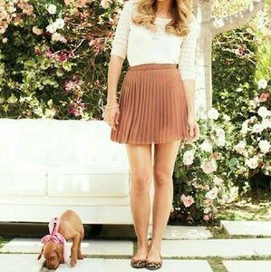 LC Lauren Conrad dusty pink accordion skirt