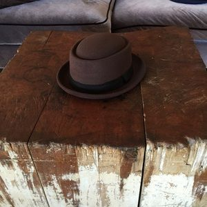 Pork Pie Walter White Fedora Hat Brown LXL