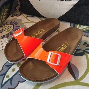 Birkenstock Shoes - Birkenstock Madrin Orange Sandal