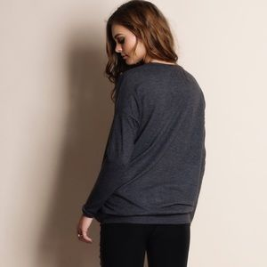 "Bare Anthology Sweaters - ""Absent Traveler"" Soft Fuzzy Sweater Top"